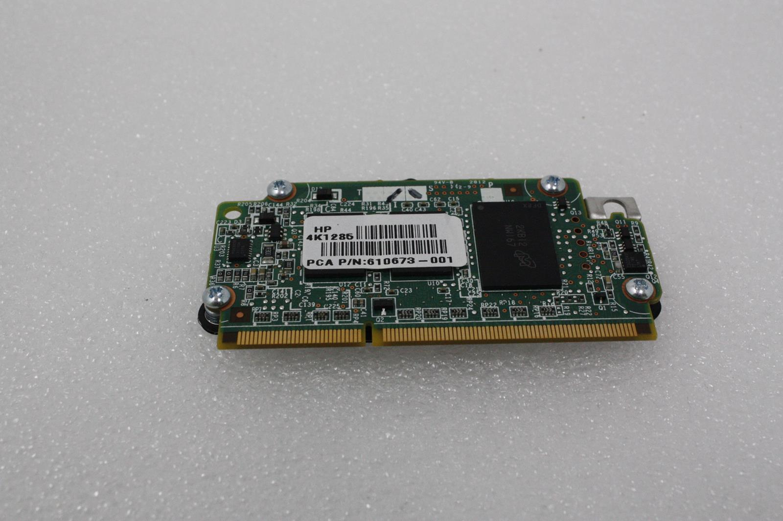 HP 610673-001 512MB B-SERIES FLASH BACKED 184-PIN 633541-001 Includes Battery