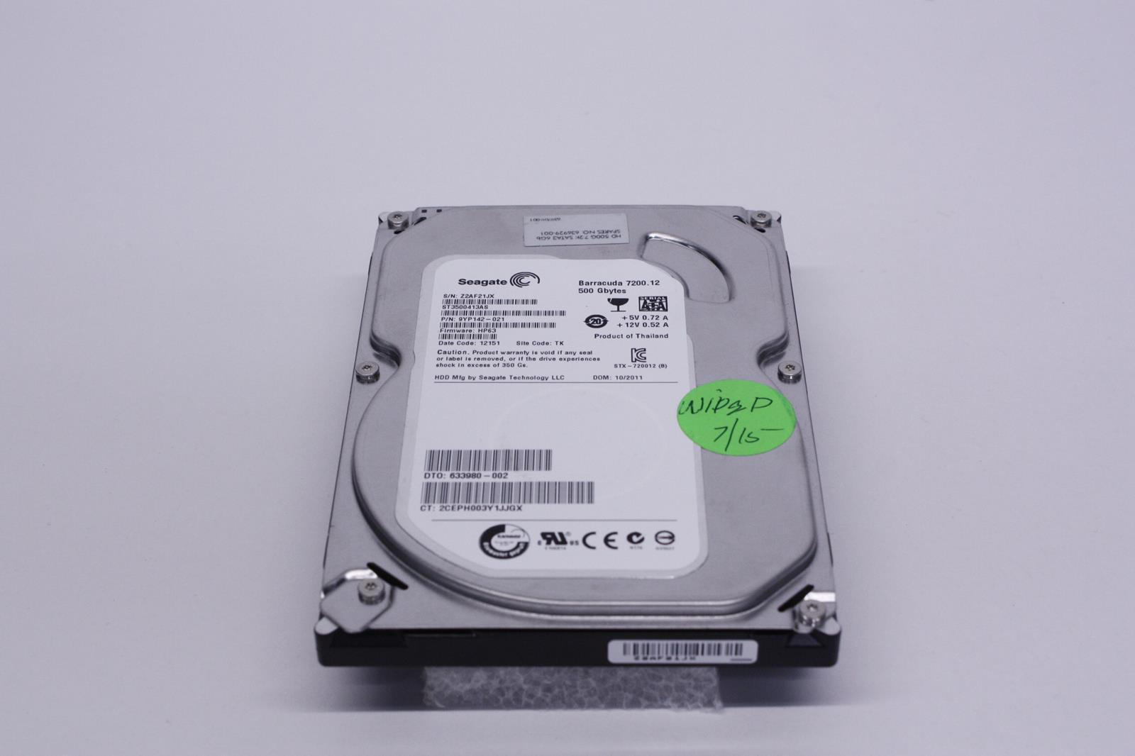 Daftar Harga Hardisk Hdd Internal Laptop Notebook Seagate 25 Inch Vetto Flash Stop Kontak V8206 R7 3m Universal Sni 2x 21a Usb30 Hp 633980 002 St3500413as 9yp142 021 500gb 7200rpm Sata 35