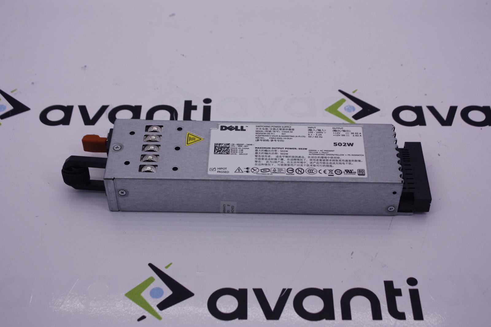 DXWMN Dell 502 Watt Power Supply New Pull. Certified Refurbished